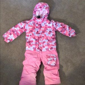 The north face  heat seeker jumpsuit toddler girl